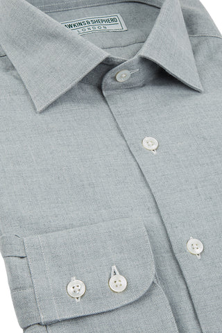 Hawkins & Shepherd Grey Luxury Cashmerello Shirt