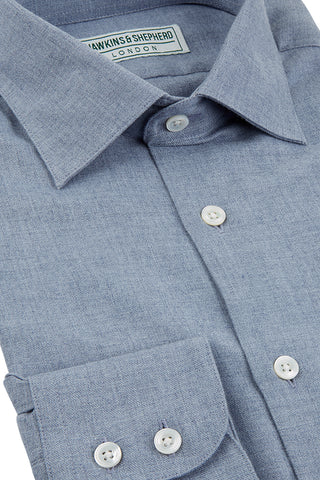Hawkins & Shepherd Navy Luxury Cashmerello Shirt