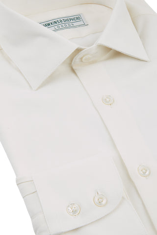 Hawkins & Shepherd White Luxury Cashmerello Shirt