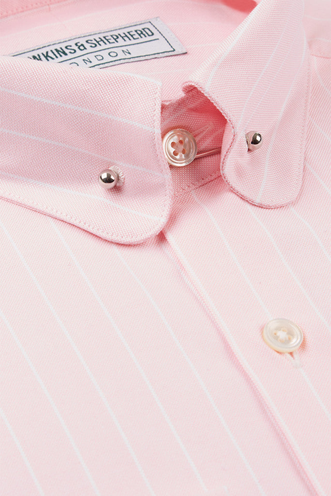 Pink Oxford Shirt With Pin Bar