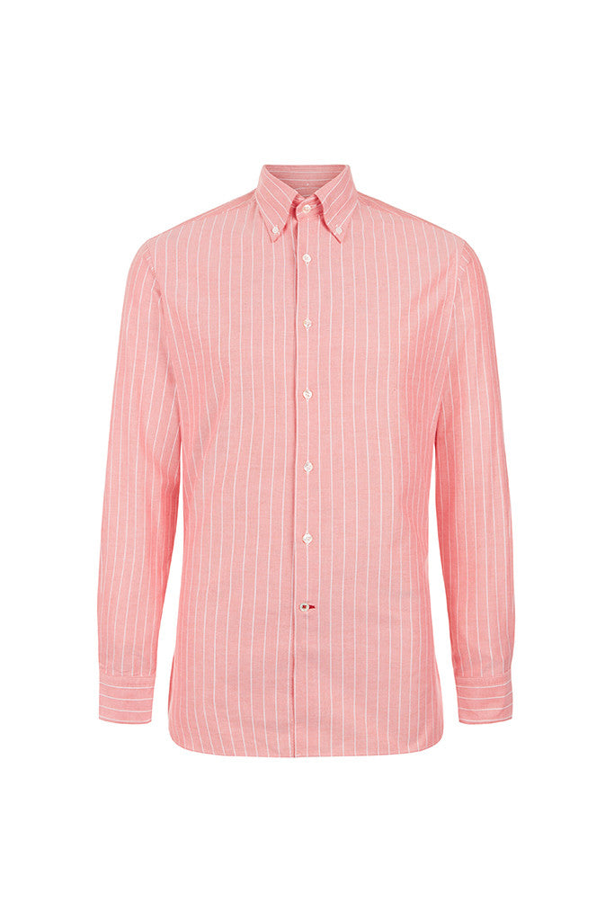 Men's Red Oxford Button-Down Shirt