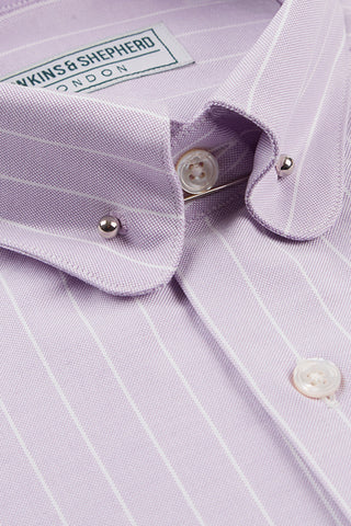 Men's Lilac Oxford Pin Collar Shirt