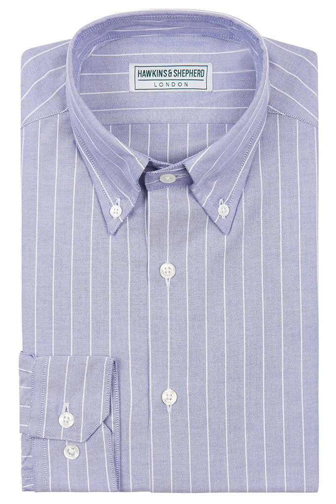 Men's Navy Oxford Button-Down Shirt