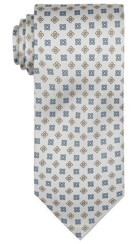 Light Grey Pattern Tie
