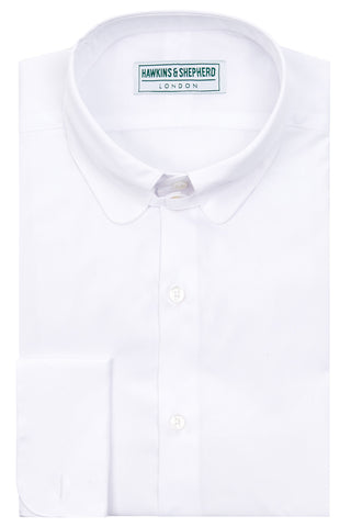 Mens Regular Fit Classic Tab Collar Shirt White