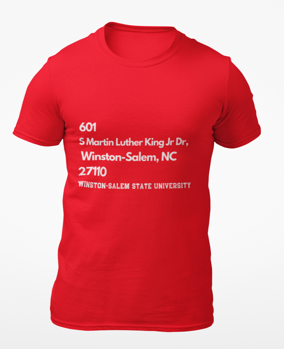 WSSU Address Tee