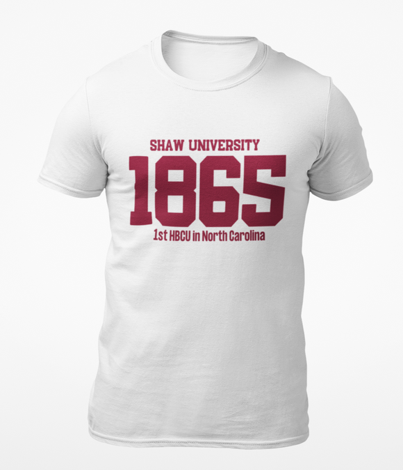 Shaw University White Founding Tee
