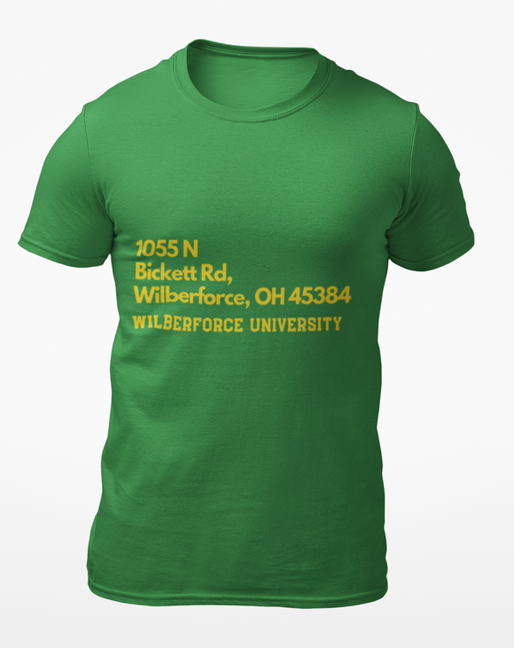 Wilberforce University Address Tee