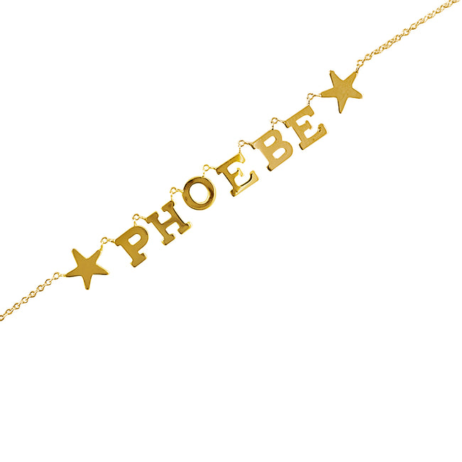 Customized Name Necklace with 2 Stars