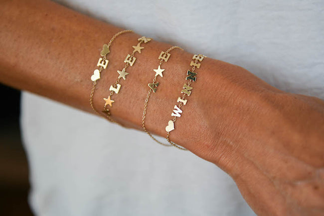 Customized Name Bracelet with 2 Stars