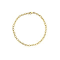 14K Gold Fancy Oval Cable Chain