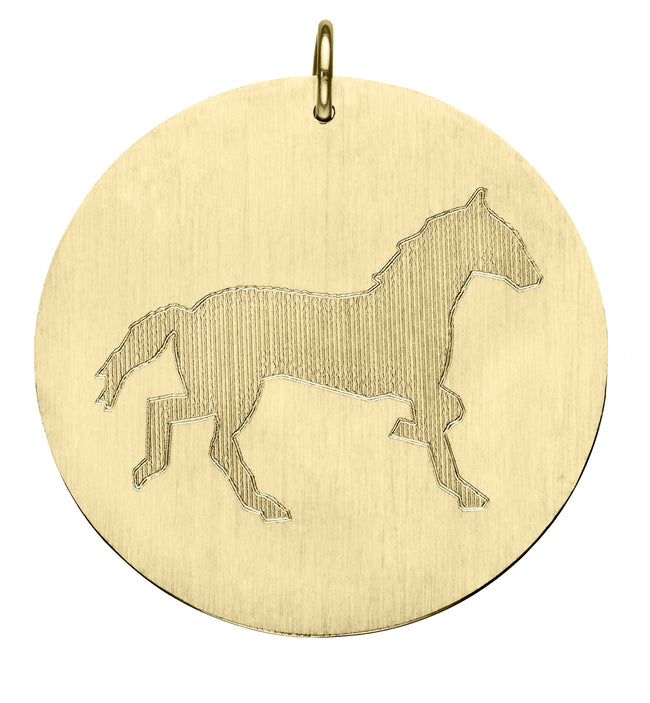 Engraved Horse Disc