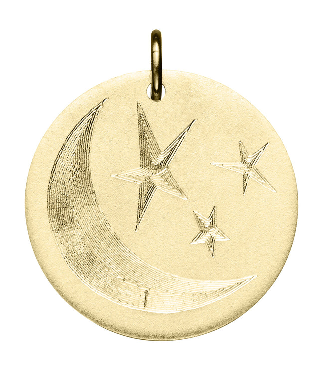 Engraved Moon & Stars Disc