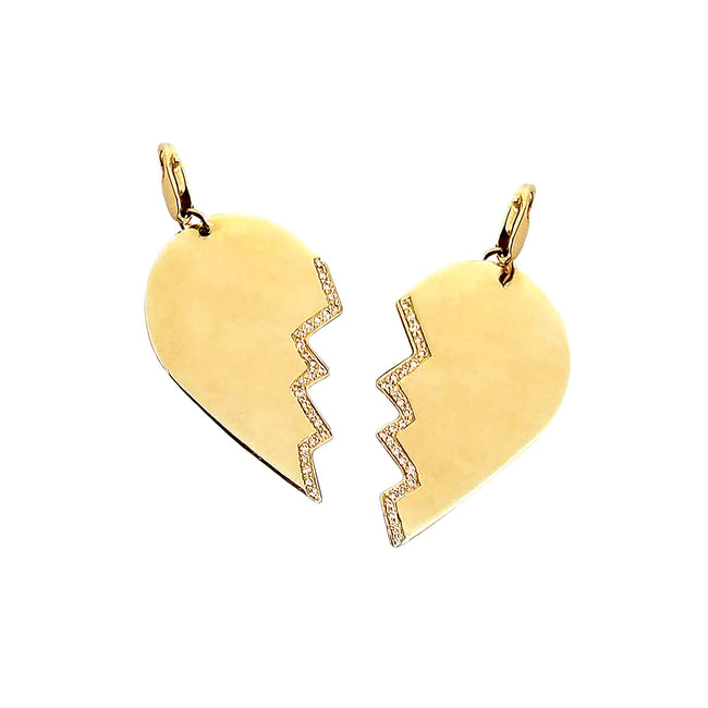 Best Friend Heart Pendant with Diamonds