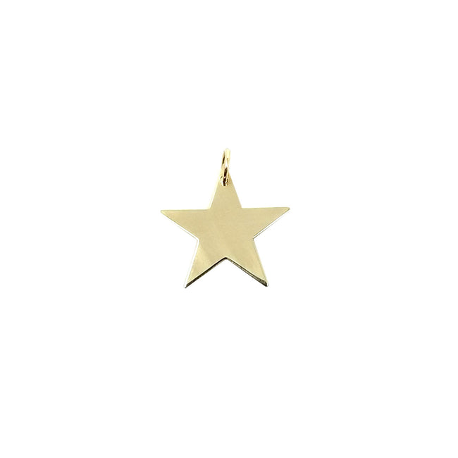 Engravable Gold Star Charm