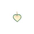 Heart Pendant with Emerald Border