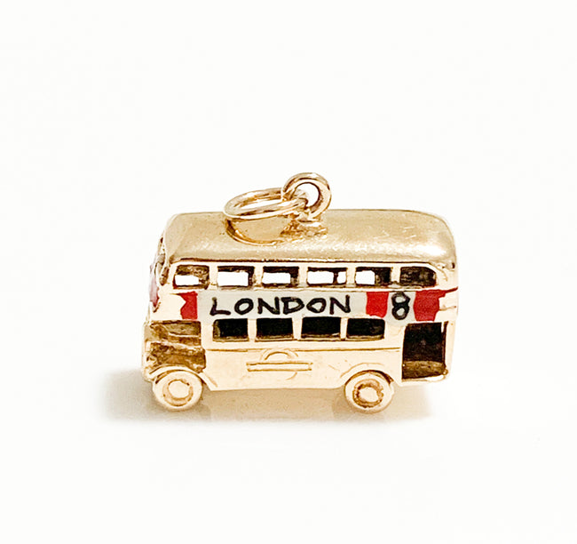 Vintage Enamel London Bus Charm