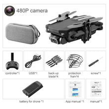 Load image into Gallery viewer, LSRC 4K HD WIFI FPV Foldable Mini Drone Toy, Take Photo by Gesture, Trajectory Flight, Beauty Filter, Altitude Hold, 360° Flip, 3-1