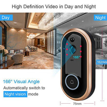 Load image into Gallery viewer, 1080P Smart WIFI Doorbell Intercom Video Ring Door Bell With Camera IR Entry Door Alert Wireless Security Chime Door Cam Alarm