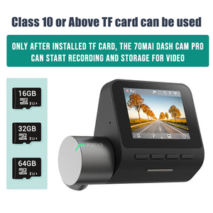 English version 70mai Dash Cam Pro 1944P speed and GPS coordinates Cam Voice Control Parking Monitor Night Vision Wifi 70 Mai Car DVR Pro