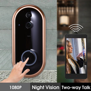1080P Smart WIFI Doorbell Intercom Video Ring Door Bell With Camera IR Entry Door Alert Wireless Security Chime Door Cam Alarm