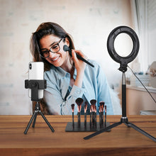 Load image into Gallery viewer, LED Ring Light Dimmable 6 Inch Makeup Ring Light,With Tripod Stand Selfie Stick,Ring Light for Streaming