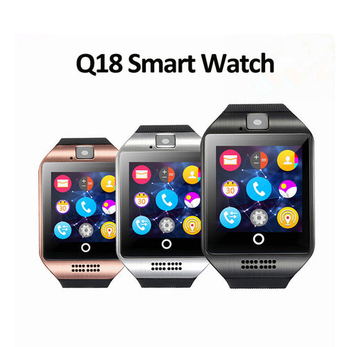 Wearable Equipment Bluetooth Clock Music Call Reminder Q18 Smart Watch Support SIM Card for Android Smartphones