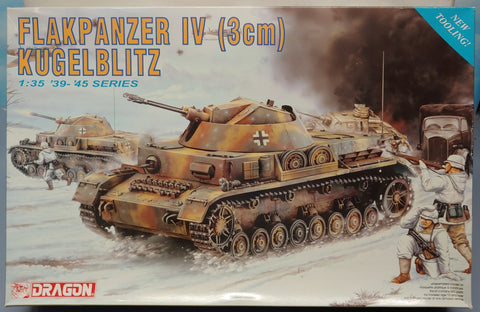 Dragon 1/35 WW2 German Flakpanzer IV (3cm) Kugelblitz Kit
