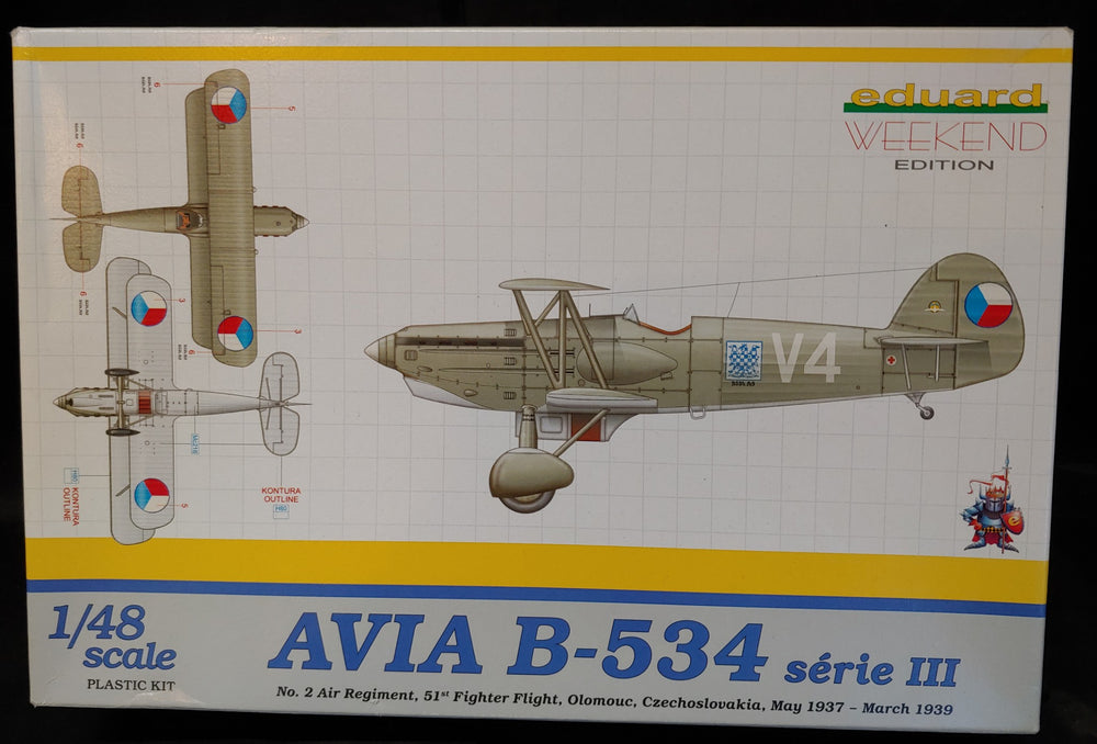 Eduard 1/48 Avia B-534 Series III Fighter Kit - Baron von Plastic
