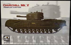 AFV Club 1/35 Churchill Mk V Tank w/95mm/L23 Howitzer Kit - Baron von Plastic