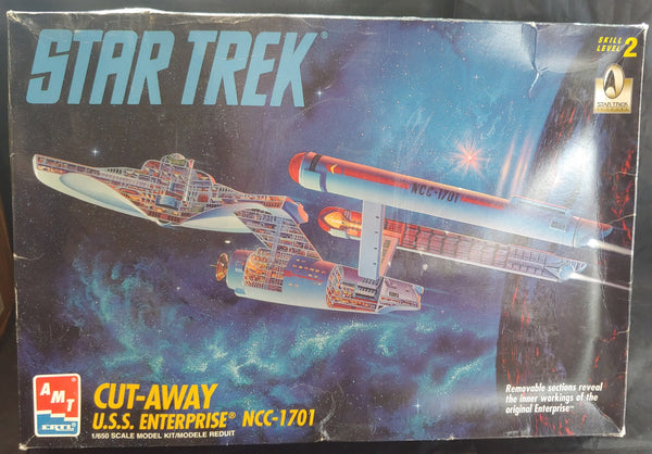 AMT 1/650 Star Trek Cut-Away USS Enterprise NCC-1701 Kit - Baron von Plastic