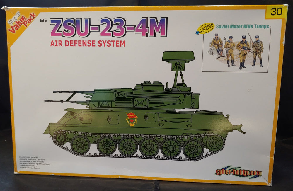 Cyber-Hobby ( Dragon) 1/35 Kit #9130 ZSU-23-44 Air Defense System w/Figures - Baron von Plastic