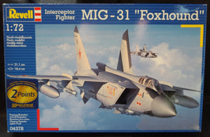"Revell Germany 1/72 Kit #4378 Mig-31 ""Foxhound"" Interceptor Fighter - Baron von Plastic"
