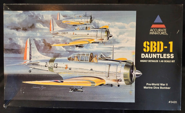 Accurate Miniatures 1/48 Scale Kit #3420 SBD-1 Dauntless Dive Bomber - Baron von Plastic