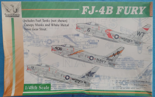 Grand Phoenix 1/48 Multi-Media Kit #KT003 FJ-4B Fury  - Sealed - Baron von Plastic