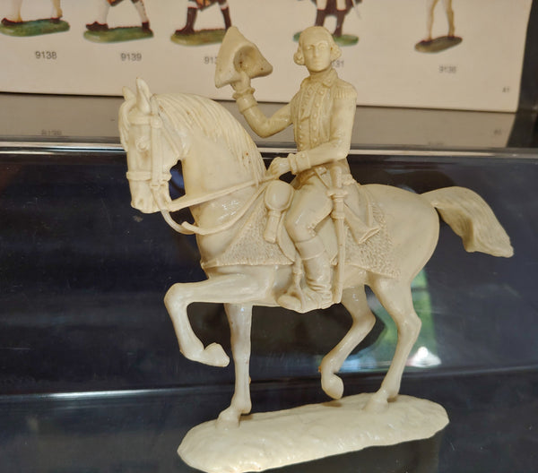 Elastolin 70mm #9130 Unpainted Mounted George Washington / Colonial Officer