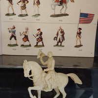 Elastolin 70mm #9130 Unpainted Mounted George Washington / Colonial Officer - Baron von Plastic