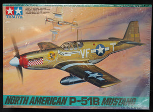 Tamiya 1/48 Kit 61042 North American P-51B Mustang w/Aries Resin Cockpit Set
