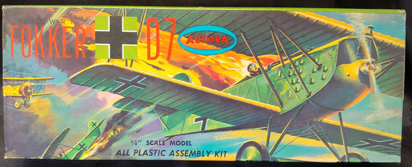 "Aurora 1/4"" Scale Kit 106-100 Circa 1958 WW1 Fokker D-7"