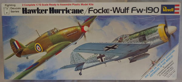 1970 Revell 1/72 Twin Kit Hawker Hurricane / Focke-Wulf Fw-190 ( 2 Model Kits )