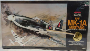 Accurate Miniatures 1/48 Kit #3410 RAF MK-1A Mustang - Sealed