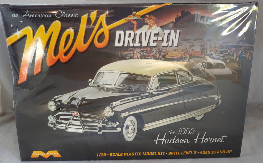 Moebius 1/25 Mel''s Drive-In 1952 Hudson Hornet Kit Sealed-