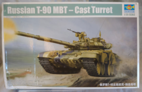 "Trumpeter 1/35 Kit #05560 Russian T-90 MBT- Cast Turret ""Baron's Bargains"""