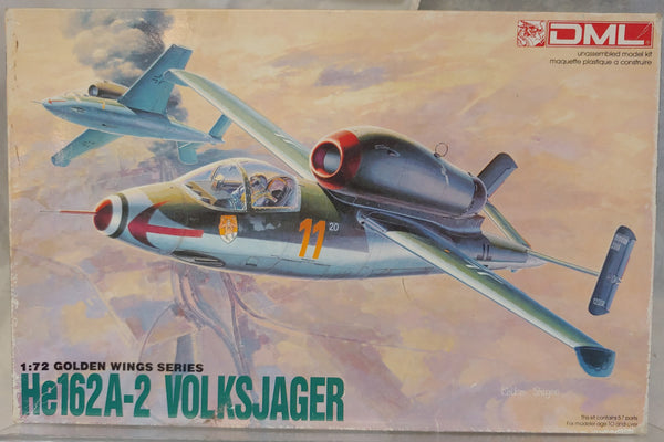 Dragon 1/27 He162A-2 Volksjager Jet Fighter - Sealed Parts
