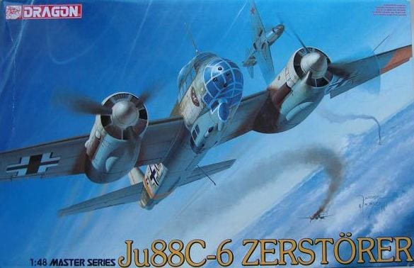 Dragon 1/48 Master Series Kit # 5536 WW2 German Ju88c-6 Zerstorer - Baron von Plastic