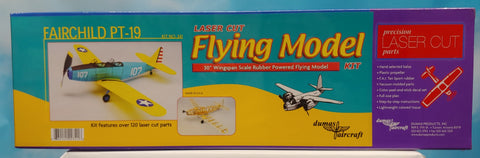 "Dumas Flying Model Kit #341 Fairchild PT-19 30"" Wingspan"