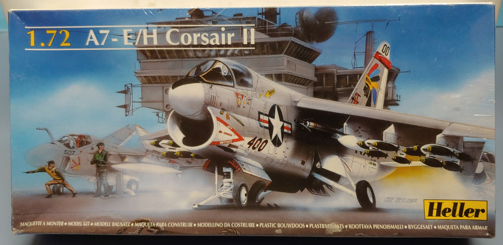 Heller 1/72 US Navy A7-E/H Corsair II Kit-Sealed - Baron von Plastic