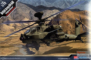 Academy 1/72 AH-64D British Army Afghanistan Helicoptor Kit