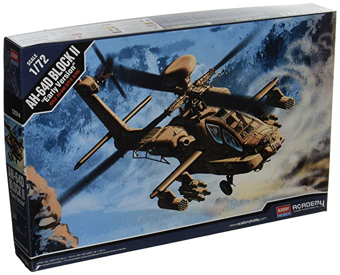 Academy 1/72 AH-64D Block II 'Early Version' US Army Helicoptor Kit
