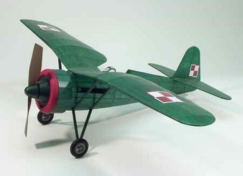 "Dumas Flying Model Kit #310 WW2 PZL P11C Fighter 30"" Wingspan"